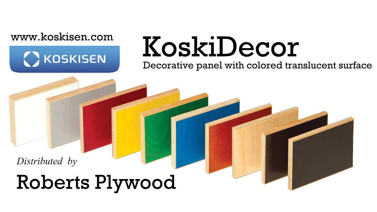 Colorfin (Koskisen - KoskiDecor) at Roberts Plywood - YouTube