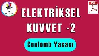 Elektriksel Kuvvet  Coulomb Yasası -2  PDF  AYT Fizik