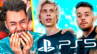 REACCIONANDO AL VÍDEO DE PS5 CON RUBIUS, IBAI, VEGETTA, WILLYREX