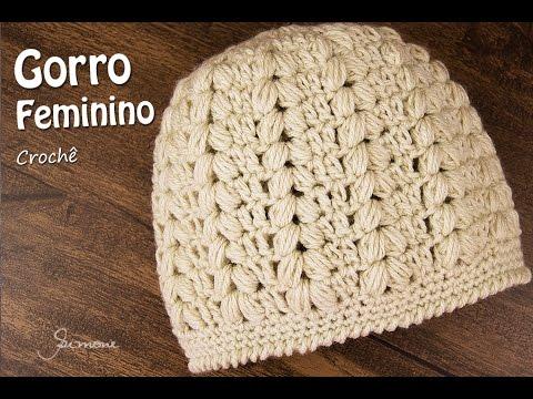Gorro Feminino de Crochê  fa55dbee0f4