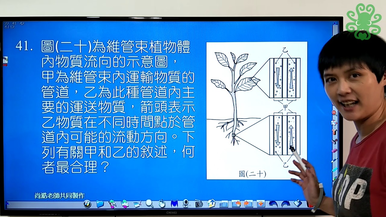 [108會考自然科] 第41題 維管束運輸的方向(張妤老師講解) - YouTube