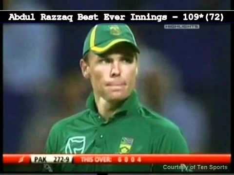 10 Sixes and the Best Match Winning Innings By Razzaq