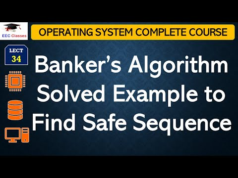 Banker's Algorithm Solved Example to Find Safe Sequence