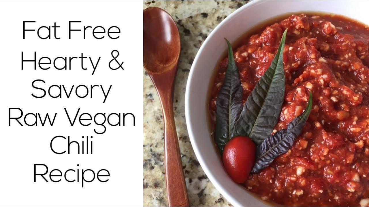 Savory raw vegan cauliflower chili recipe fat free youtube youtube premium forumfinder Image collections