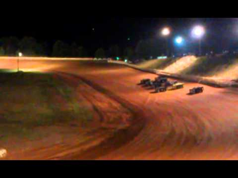 07-19-2013 Big flip at Cleveland County Speedway..