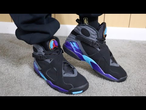 best website 1993c f7956 Retail Release Air Jordan 8 Retro Aqua On Feet Sneaker Review