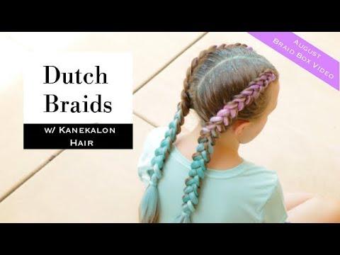 August Braid Box Video: Dutch Braids with Kanekalon Hair by Erin Balogh