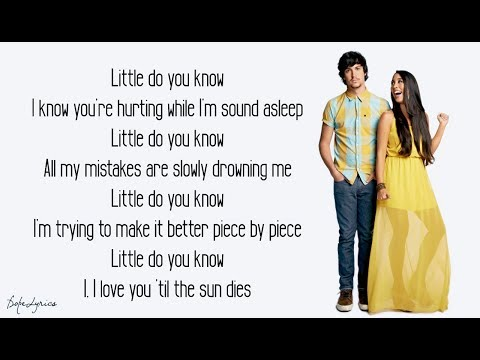 Alex & Sierra - Little Do You Know (Lyrics) 🎵