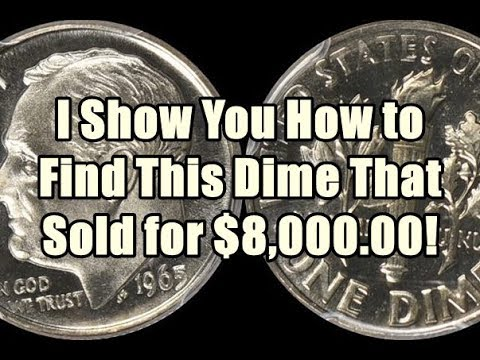 UNIMAGINABLE - 1965 Roosevelt Dime Sold for $8,000 00! I Show You Exactly  How to Find One