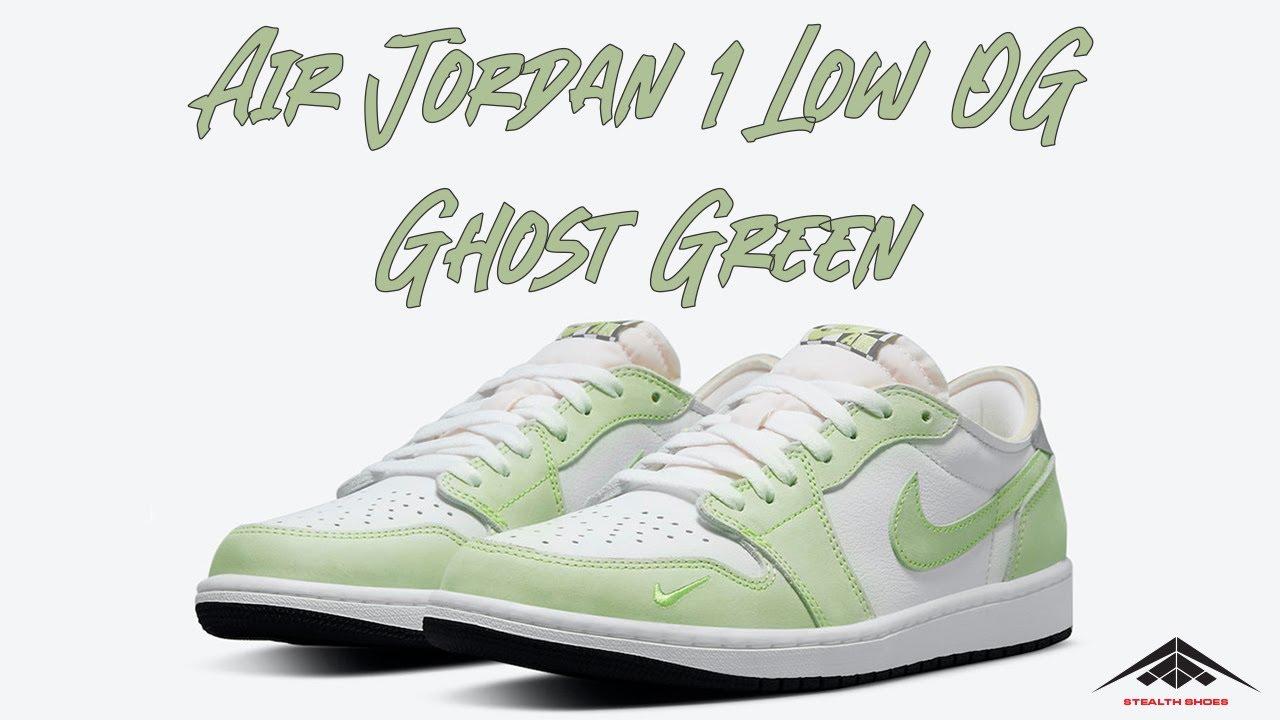 AIR JORDAN 1 LOW OG 'GHOST GREEN'