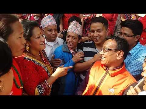 रेसम थापा र सानू धमला को घम्साघम्सी दोहोरी live dohori tokha 2075/2018