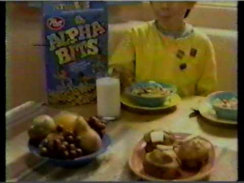 Alpha Bits Cereal Commercial 1988