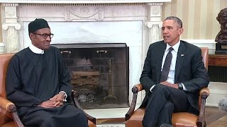 The President Meets with the President of Nigeria