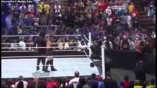 Big show returns to save RVD and Mark henry from the shield