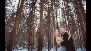 Свадьба зимой Лены и Паши