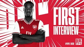 Nicolas Pepe's first Arsenal interview
