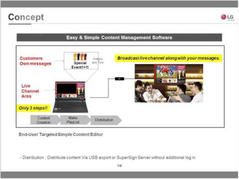 LG Commercial Display: Solution Spotlight Webinar - SuperSign Simple Editor & IT Monitor Solution