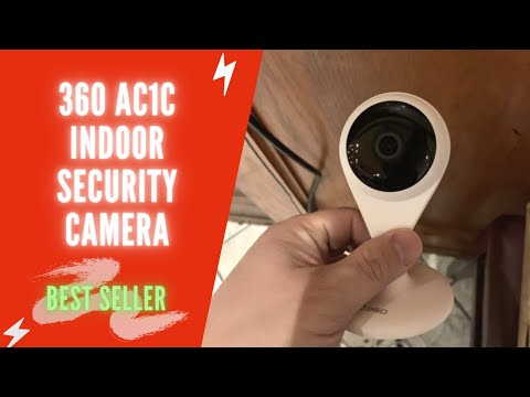 360 AC1C Indoor Security Camera Review & Test | 360 Home Security Camera 1080P HD | Best Home Camera