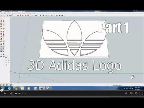 Adidas Logo with Sketchup (Part 1)