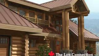 Braelorne Stacked Log Home by The Log Connection