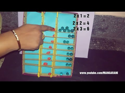 MATHS WORKING MODEL FOR MULTIPLICATION TABLES, LOW COST -  NO COST
