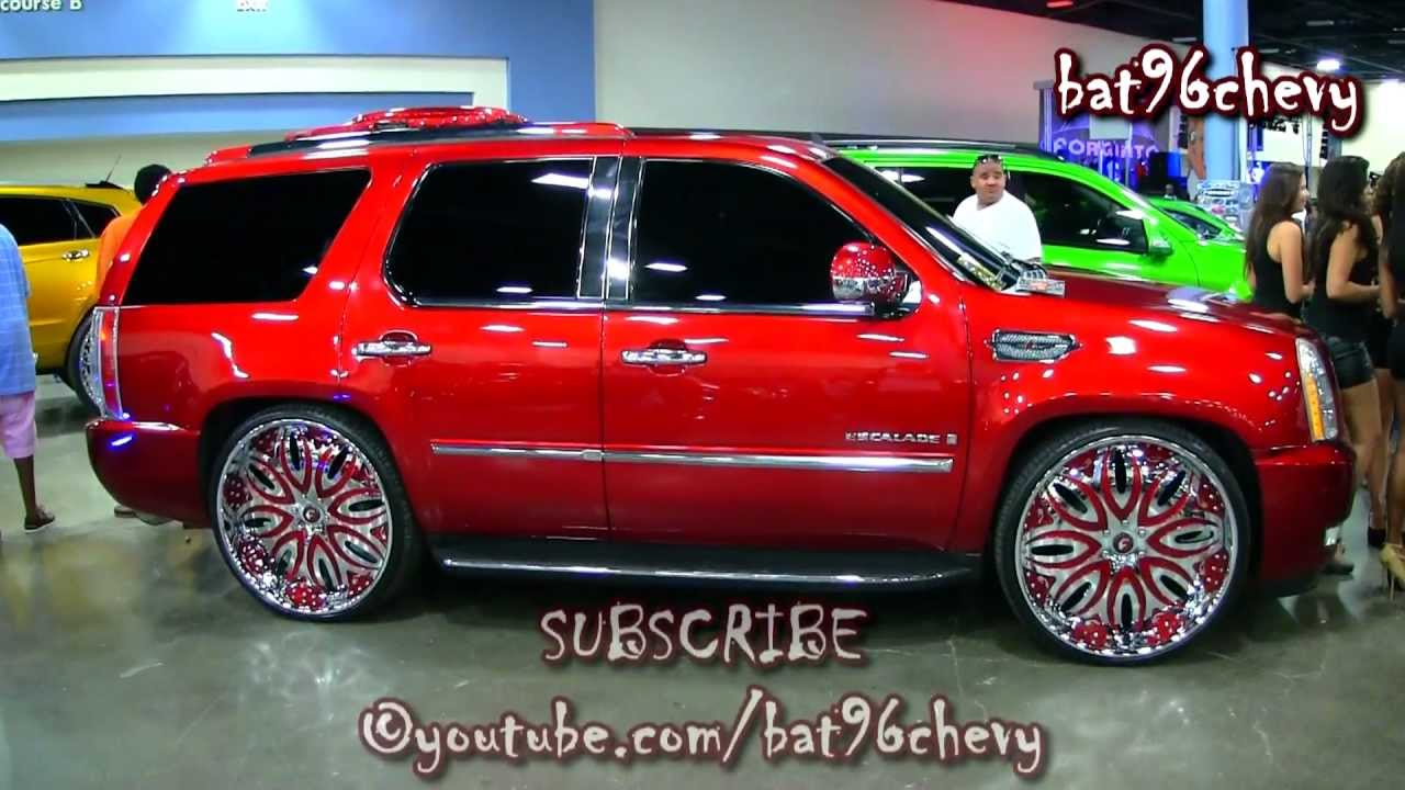 Candy Red Cadillac Escalade On 28 Quot Forigatos Giordano