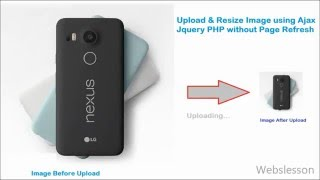 Upload Resize Image using Ajax Jquery PHP without Page Refresh