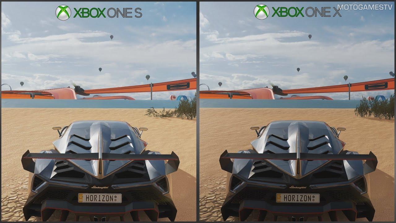 Forza Horizon 3 Xbox One S Vs Xbox One X 1080p Graphics