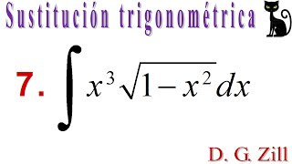 Integración por sustitución trigonométrica. Zill 7.5_7
