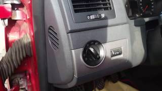 Как снять переключатель света в VW, Seat, Skoda