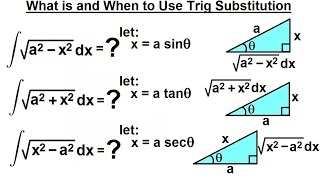 Calculus 2: Integration - Trig Substitution (1 of 28) What Is & When to Use Trig Substitution?