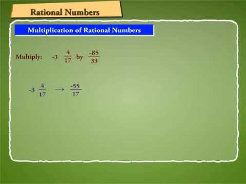 Multiplication of Rational Numbers