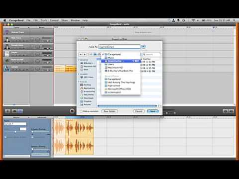 Exporting an mp3 from Apple Garageband (screencast)