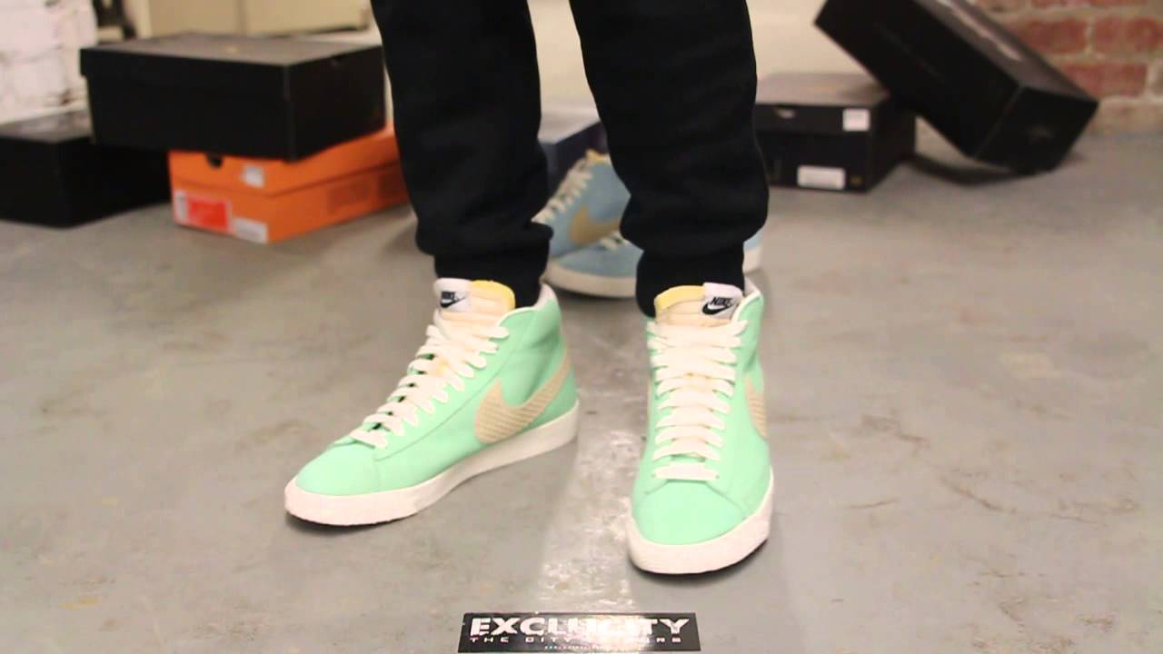 nike blazer mid premium poison green on feet video at exclucity rh youtube com