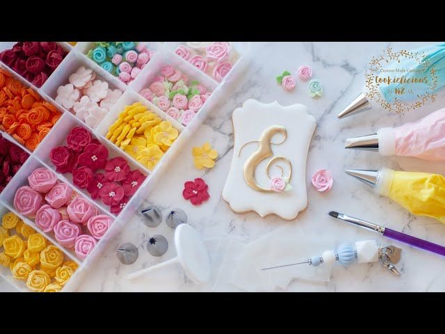 ROYAL ICING FLOWERS TUTORIAL ~ How to make 4 simple & beautiful flowers