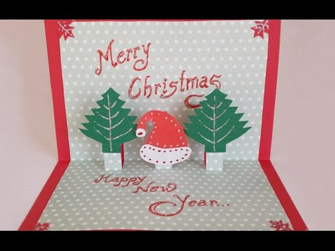 Diy paper craft how to make an easy handmade christmas pop up diy paper craft how to make an easy handmade christmas pop up greeting card m4hsunfo