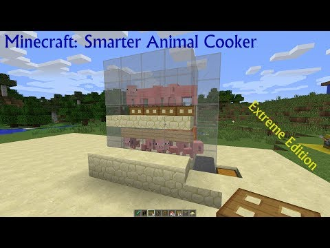 Minecraft: Smarter Animal Cooker Extreme Edition (Cow & Pig Farm)