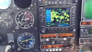 Navigating around thunderstorms in the twin Cessna 340