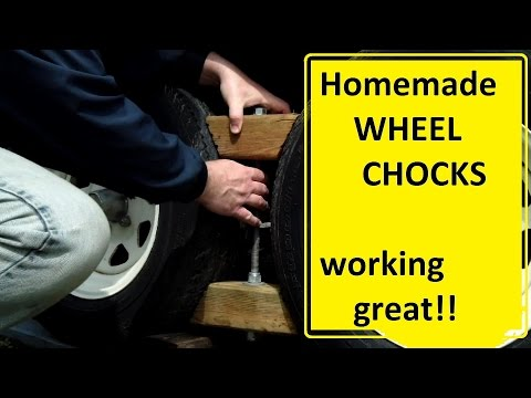 DIY Tandem Wheel Chocks
