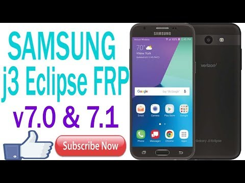 SAMSUNG j3 Eclipse FRP and google account Remove