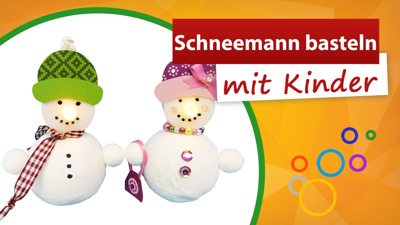 schneemann basteln mit kindern teelicht dekoration trendmarkt24 youtube. Black Bedroom Furniture Sets. Home Design Ideas