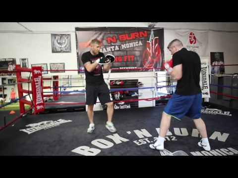 World Champion Liam Smith training in Los Angeles training before Canelo Alvarez fight