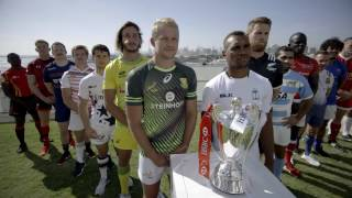 Awesome slow motion rugby sevens action!