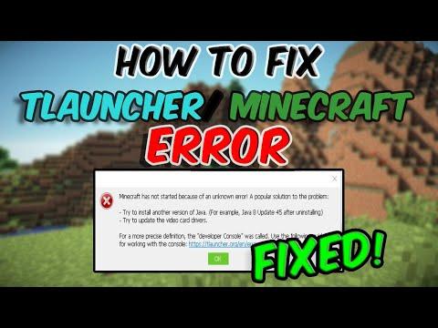 How to fix java error in TLauncher