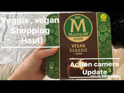 Veggie vegan shopping haul action camera update