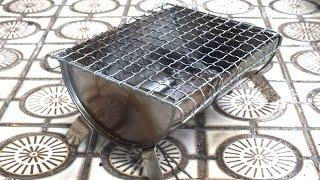 ミニサイズのバーベキューコンロで焼く炭火焼きは美味しい。stove thumbnail