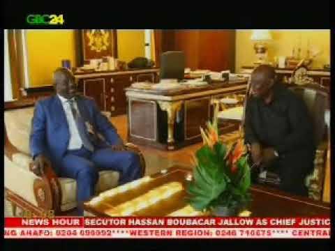 George Oppong Weah calls on Ghana's President Akufo Addo