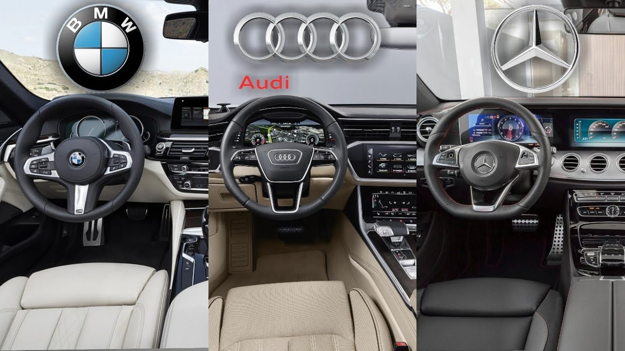2019 Audi A6 Vs Bmw 5 Series Vs Mercedes Benz Interior Youtube
