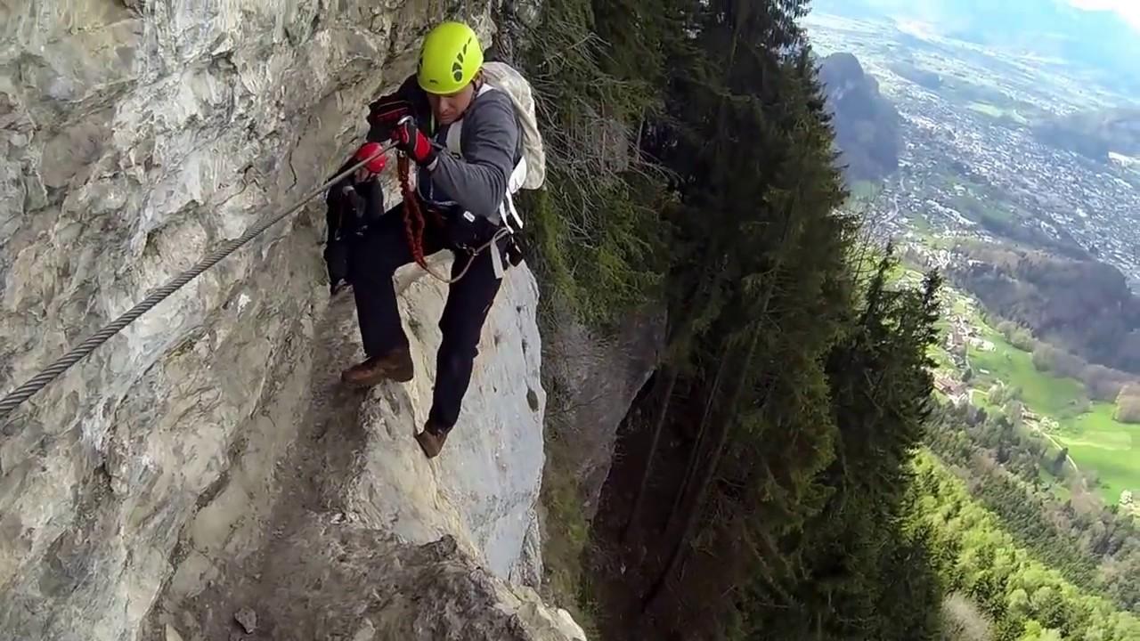 Klettersteig Via Kapf : Via kapf kessi youtube