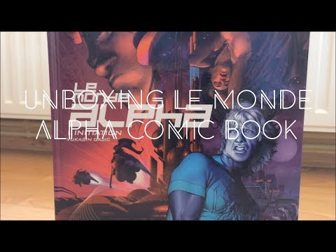 Unboxing Le Monde Alpha - French Comic Book Hardcover